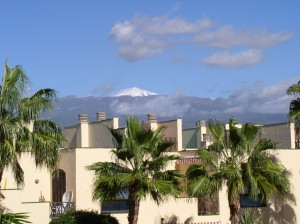 View from terrace of Tenerife Apartment
