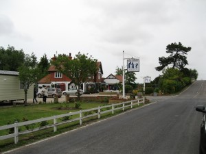 The Dog and Duck pub at Plucks Gutter